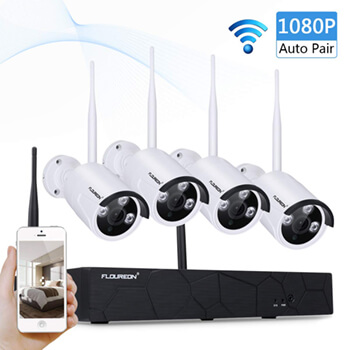 kit camara de vigilancia wifi FLOUREON